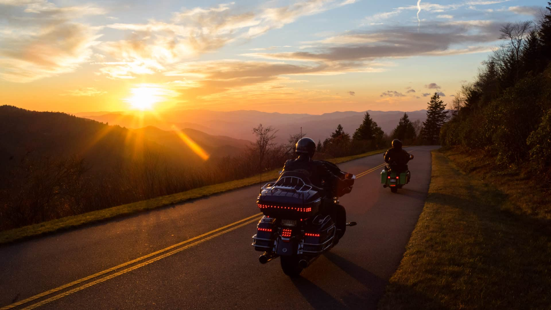Motorcycle Ride on the Blue Ridge Parkway