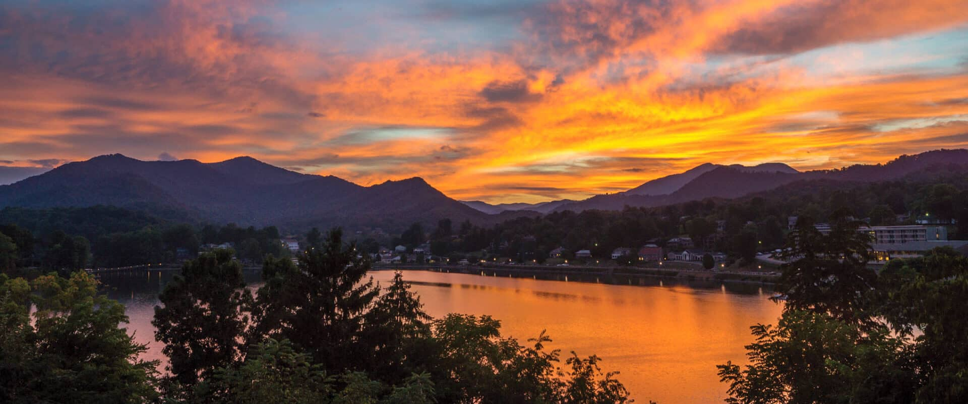 lake junaluska sunset