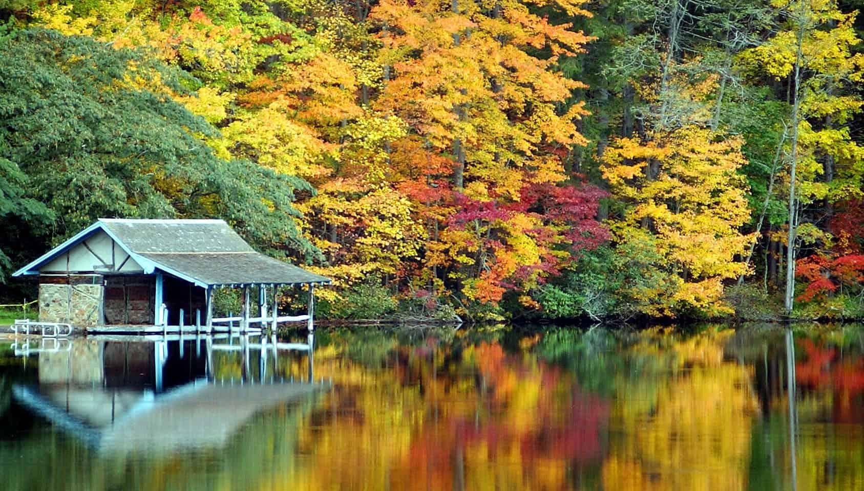 Lake Logan Fall Visit Nc Smokies