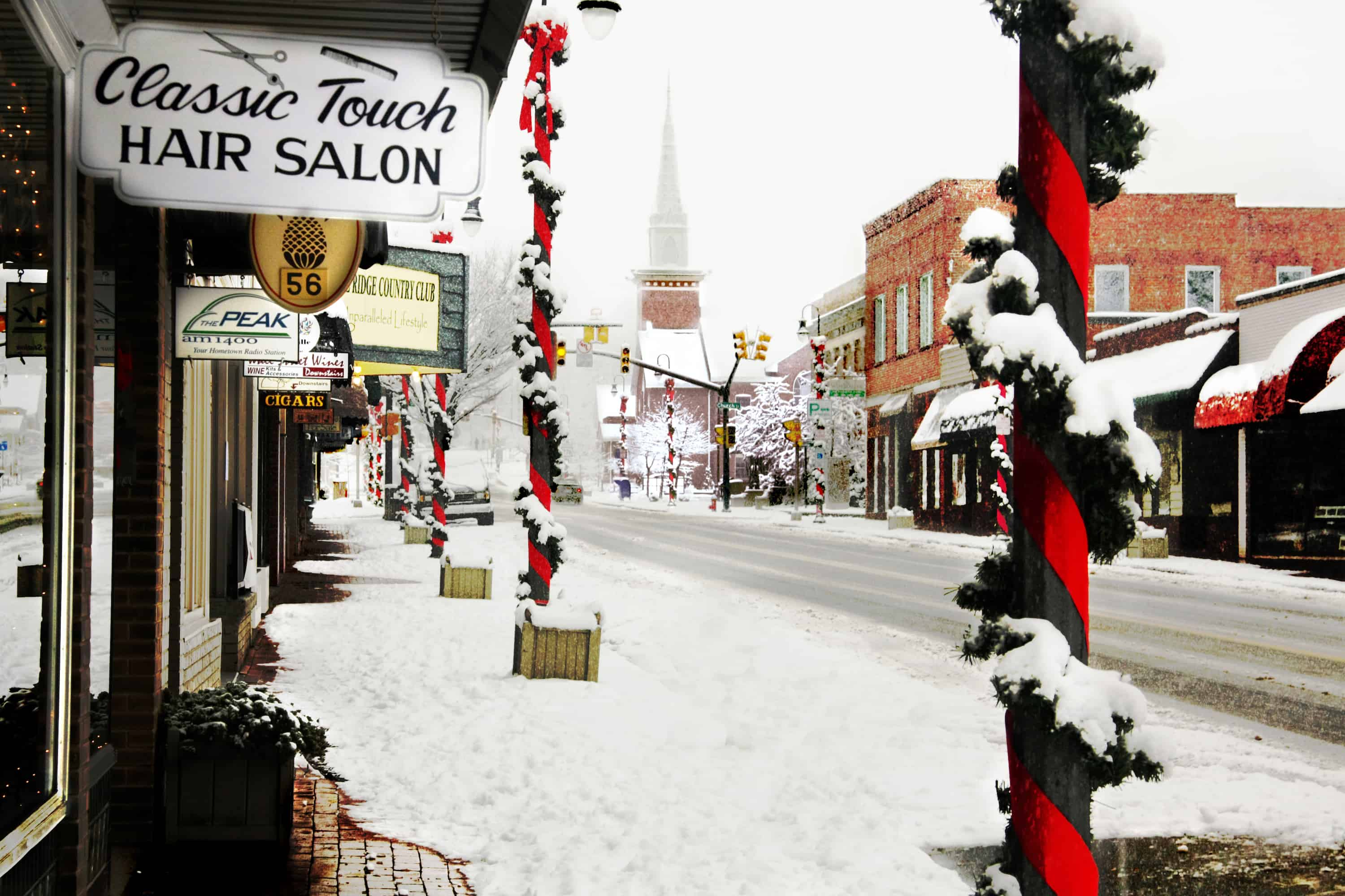 Downtown Waynesville Winter - Joyce O'Neil