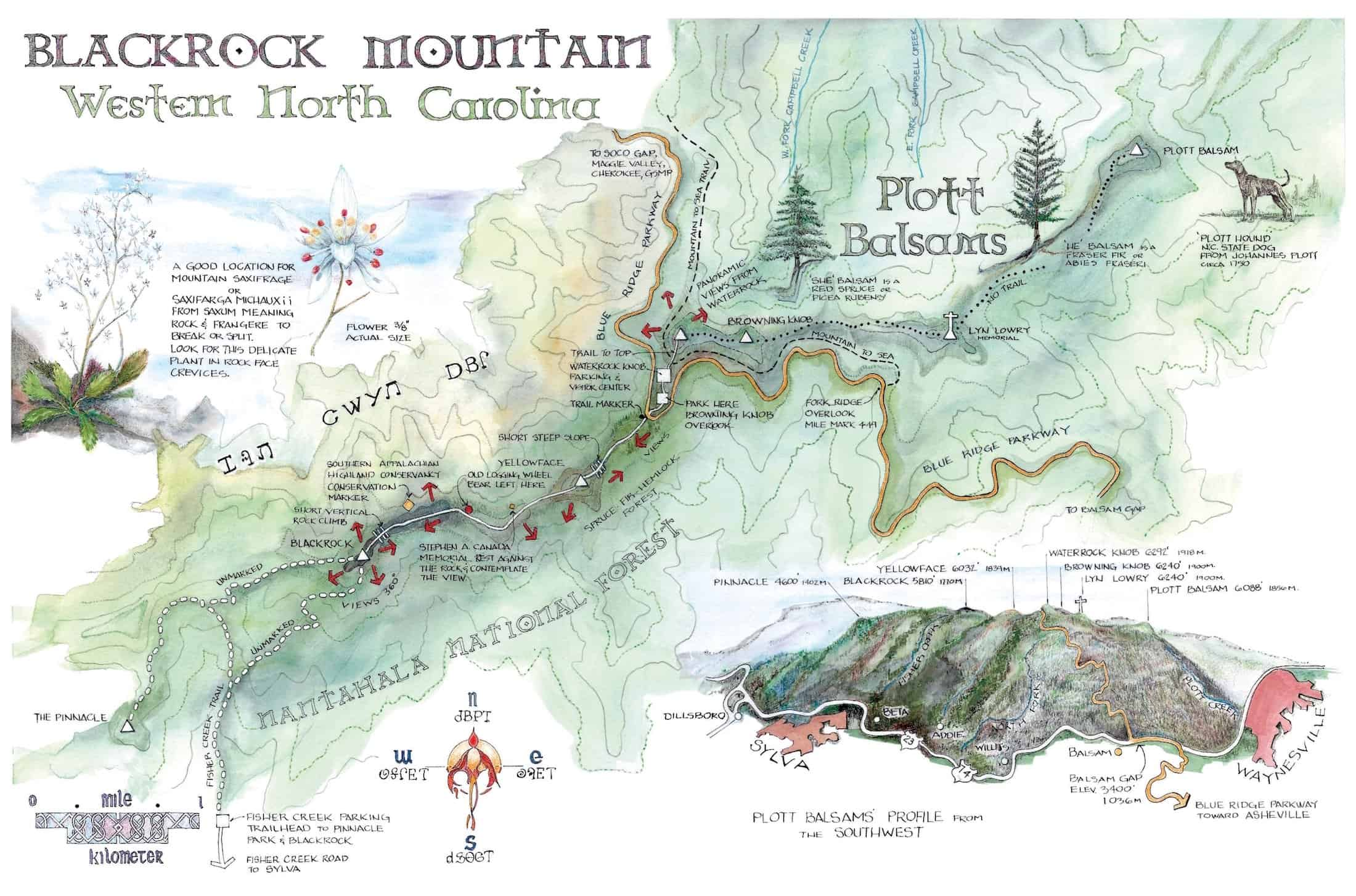 black rock mountain map