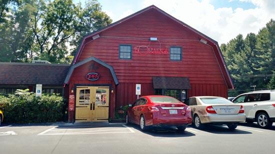 Bogarts restaurant in Waynesville, NC