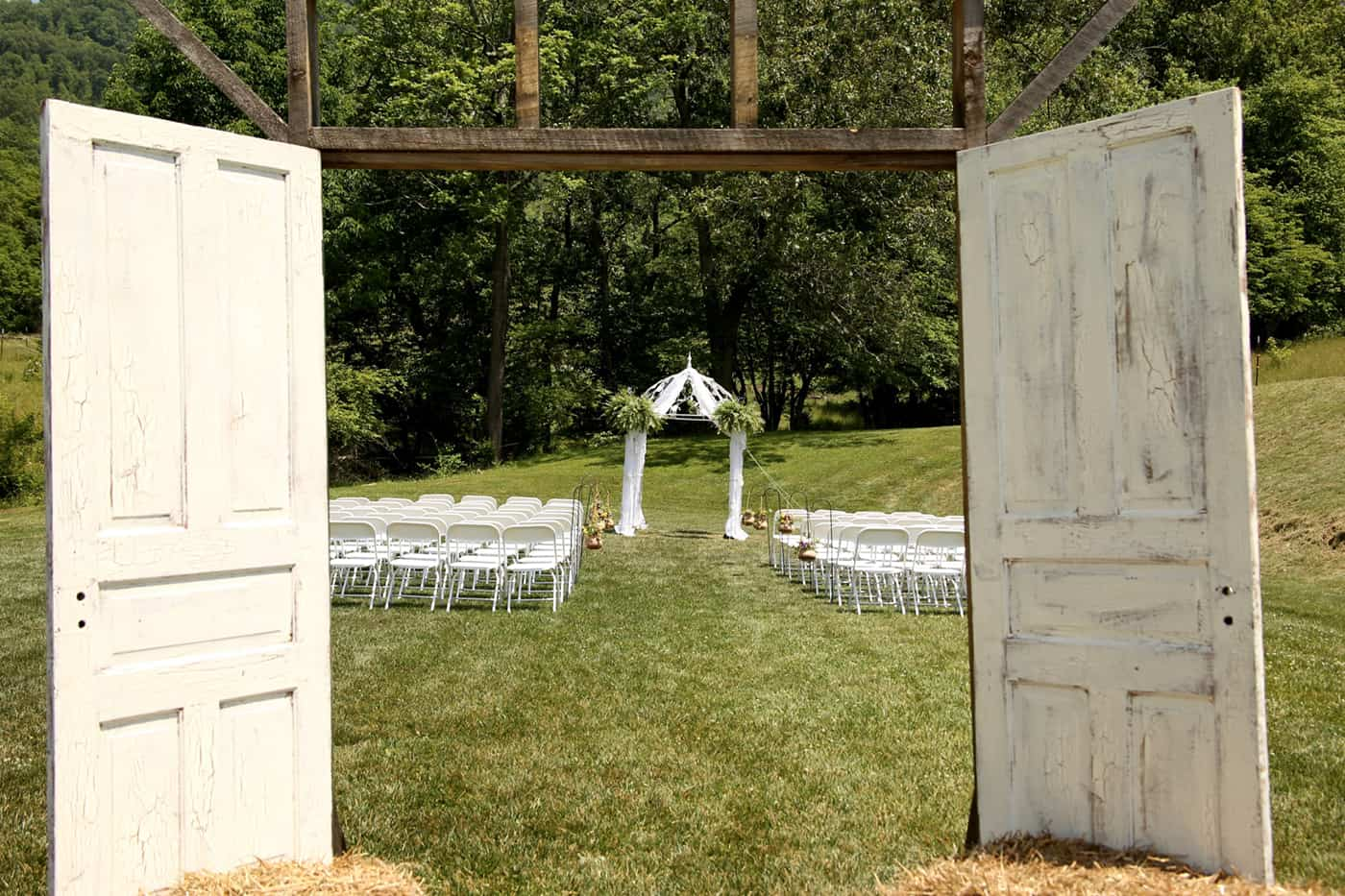 Ceremony area for Appalachian Farm Weddings