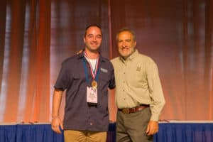 BearWater Brewer Sean Coughlin accepts Award