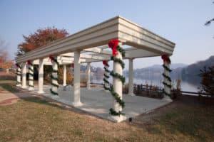 Lake Junaluska decorated for Christmas 2017