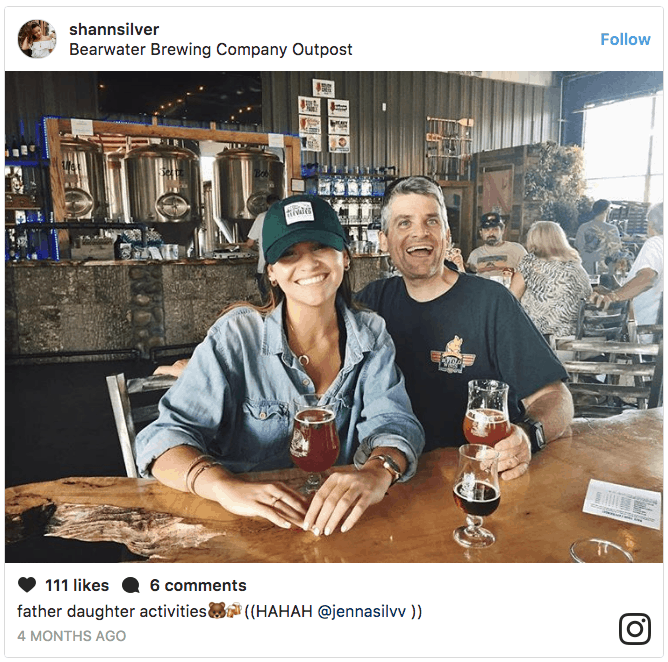 Happy couple at BearWaters Brewing in Canton