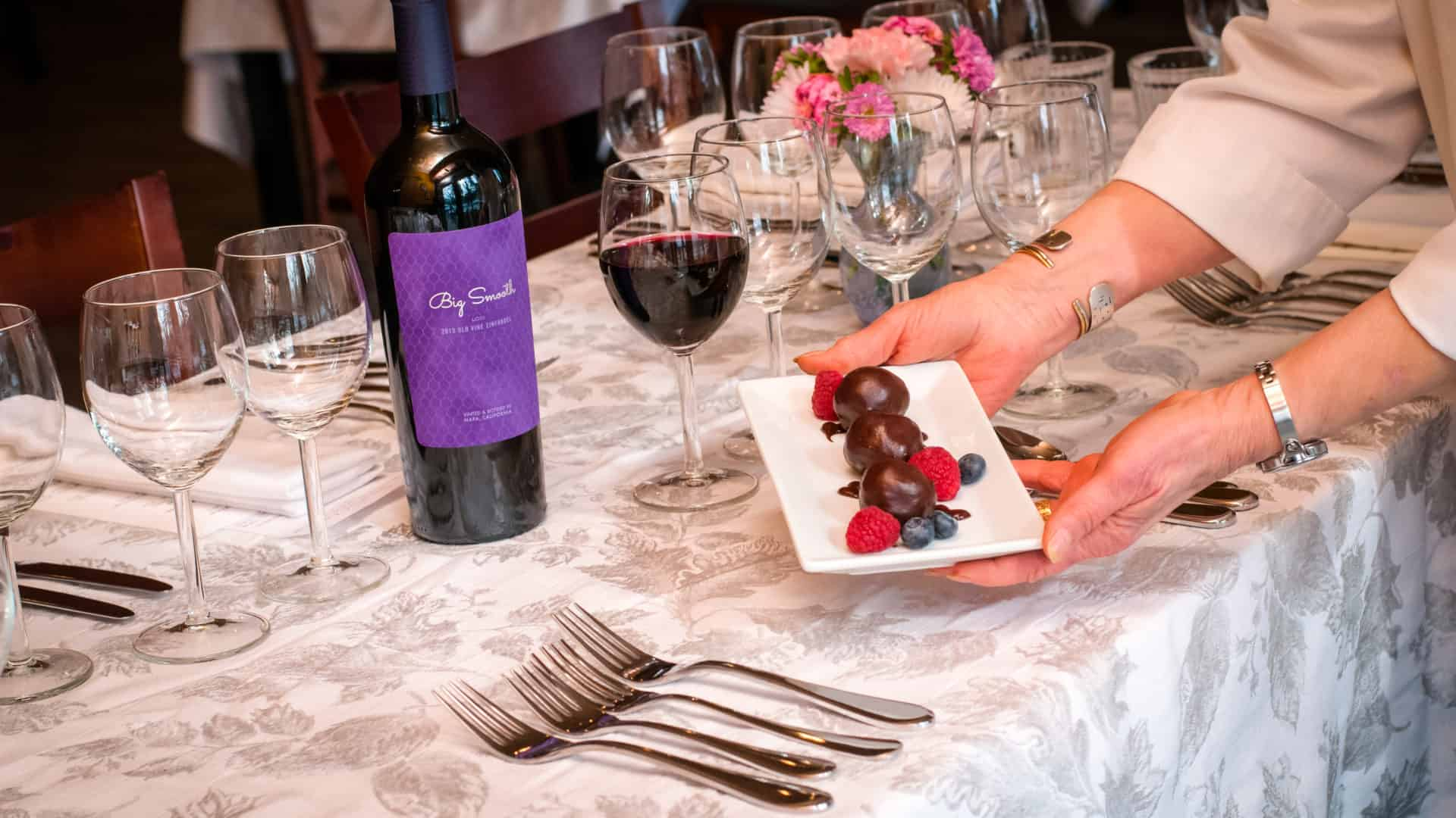 Chef Jackie's truffles of Bosu's Wine Shop in Waynesville