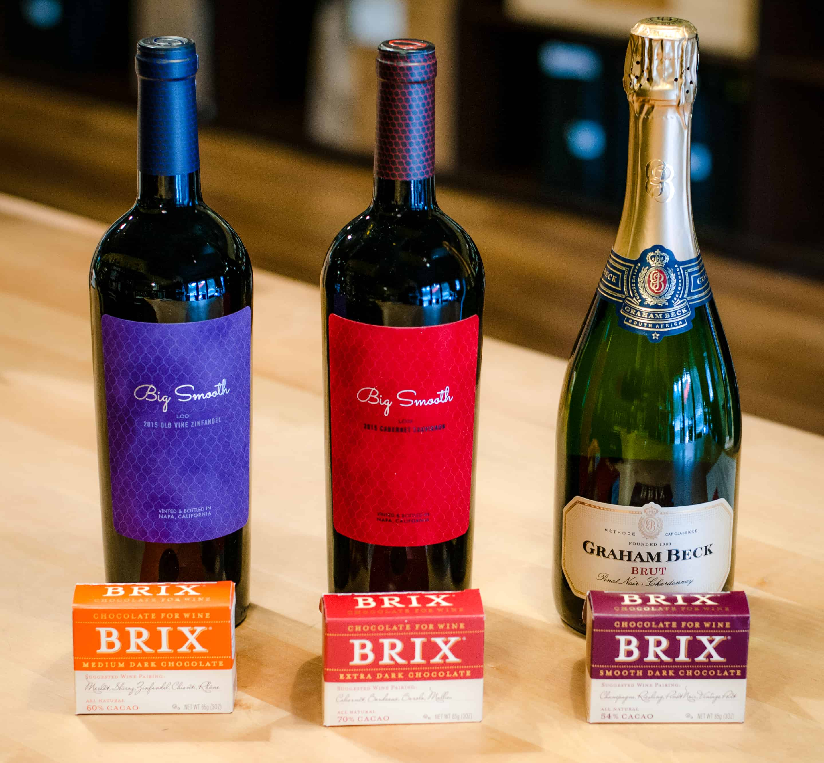 Bosu's Wine Shop Brix and wine pairing