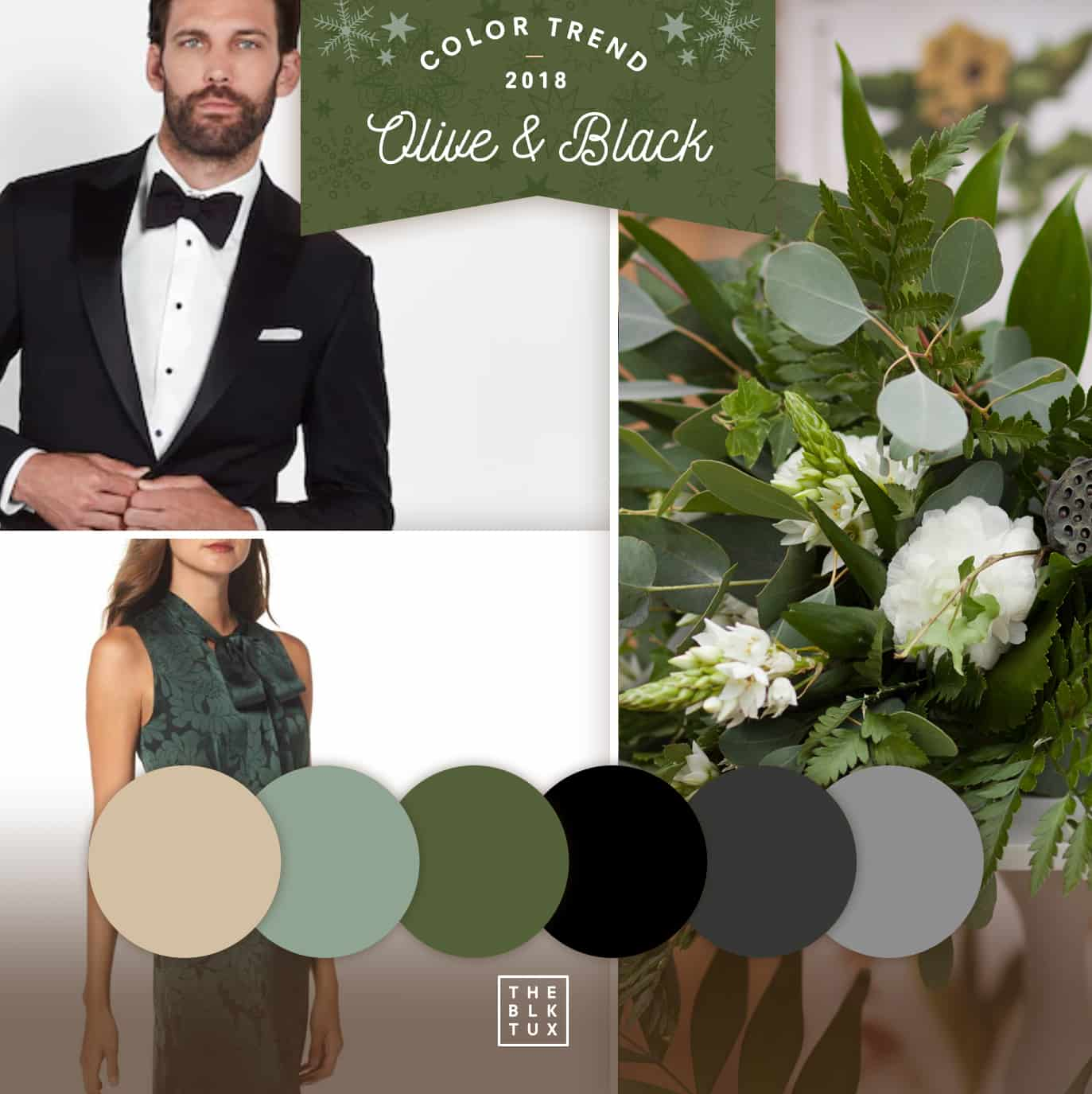 Olive & Black Color scheme for wedding