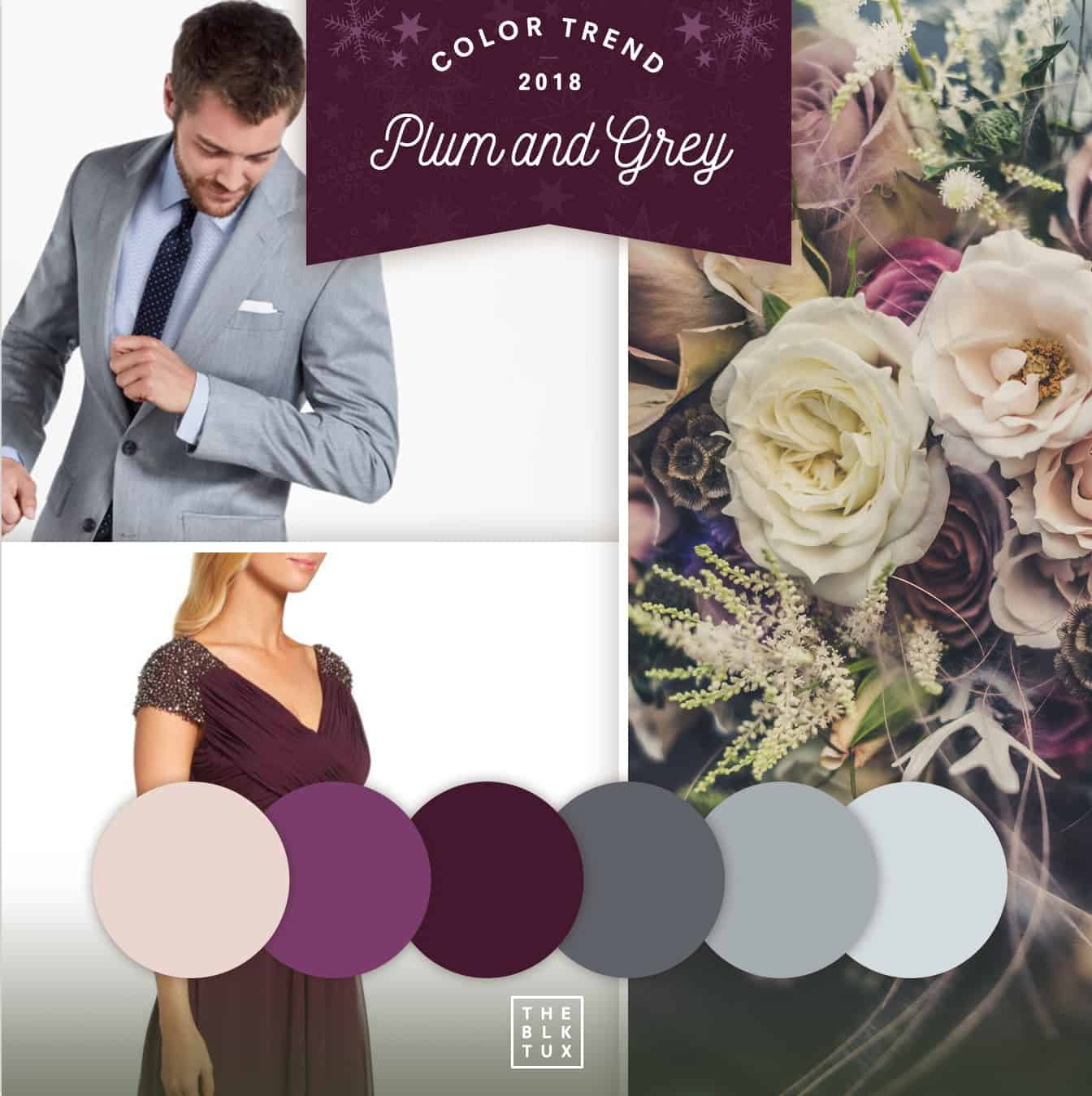 Plum and grey wedding colors | Visit NC Smokies