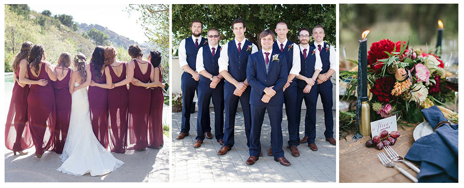 Navy and marsala wedding colors | Visit NC Smokies