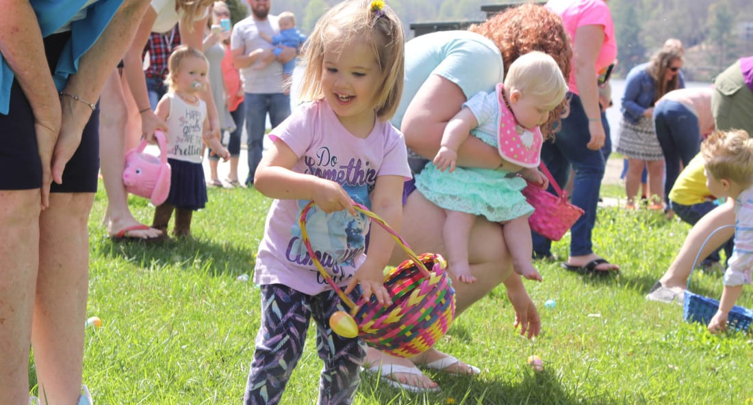 Easter Egg hunt at Lake Junaluska
