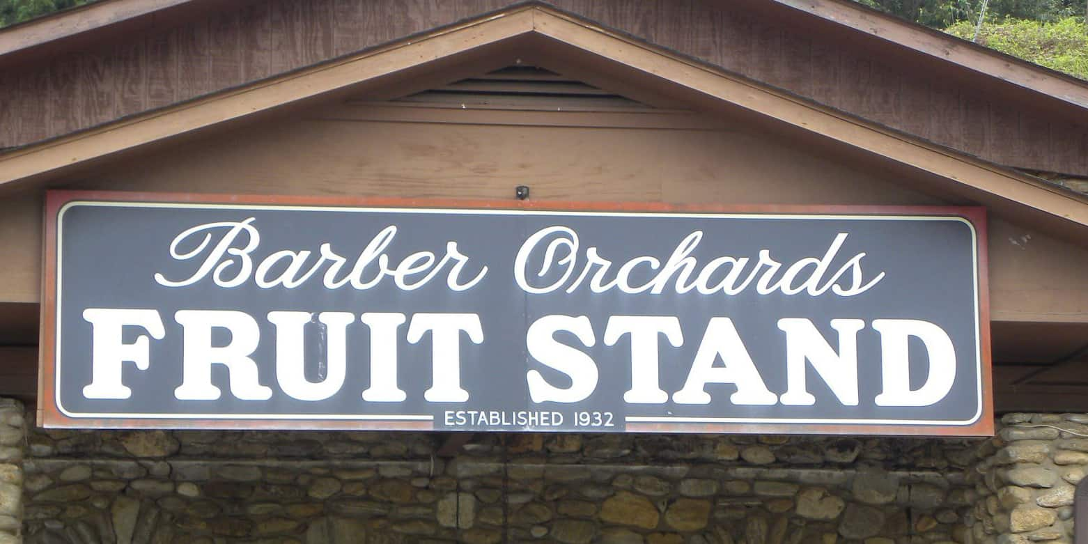 Barber Orchard Fruit Stand in Haywood County