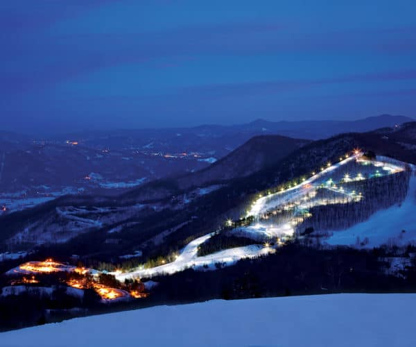 Aerial Night Shot of Cataloochee Ski Area