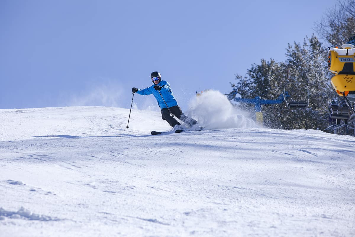 Downhill skier at Cataloochee Ski Area