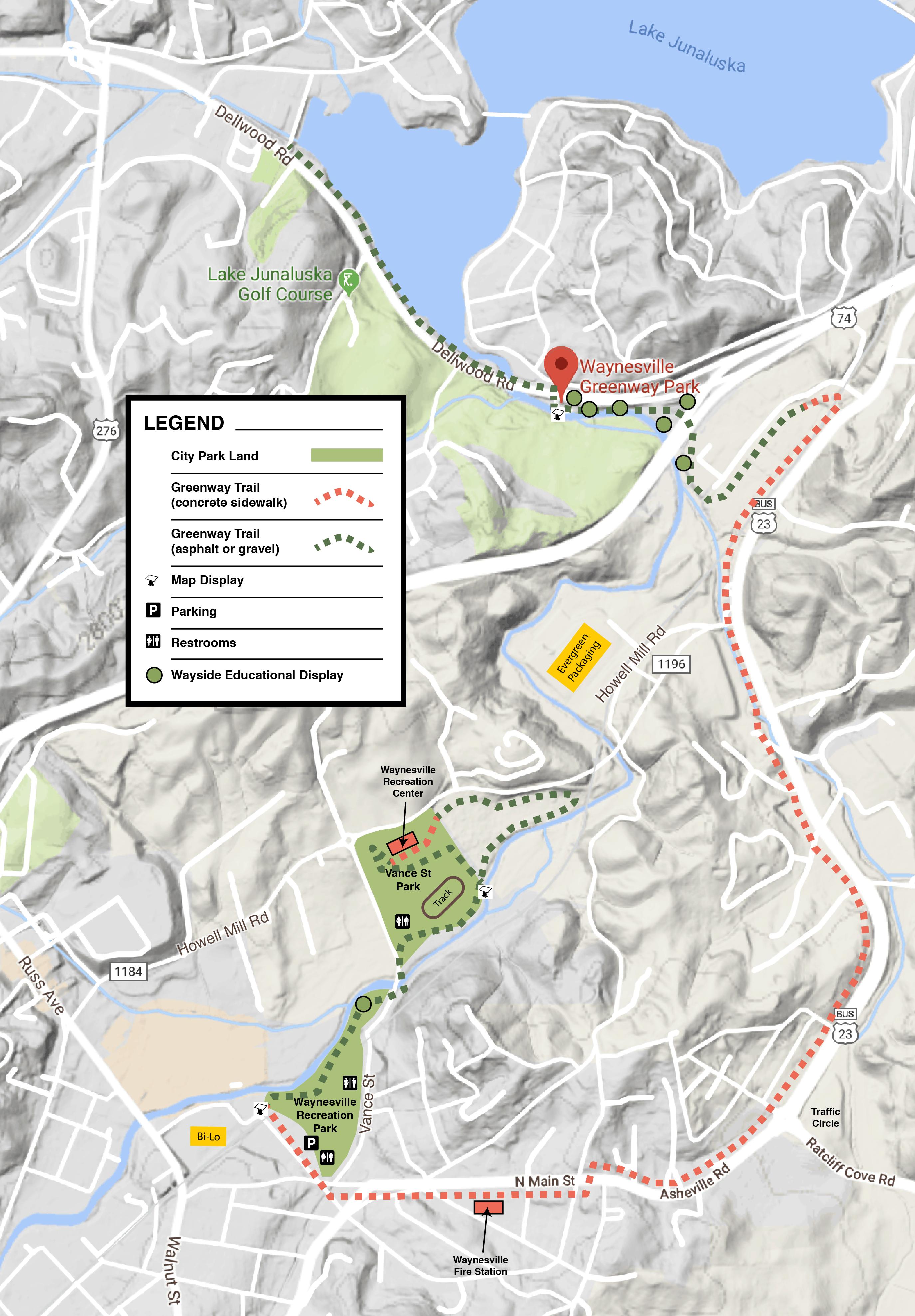 Waynesville Greenway Map