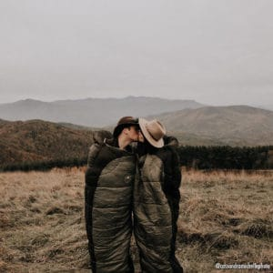 Couple kissing on top of Max Patch.