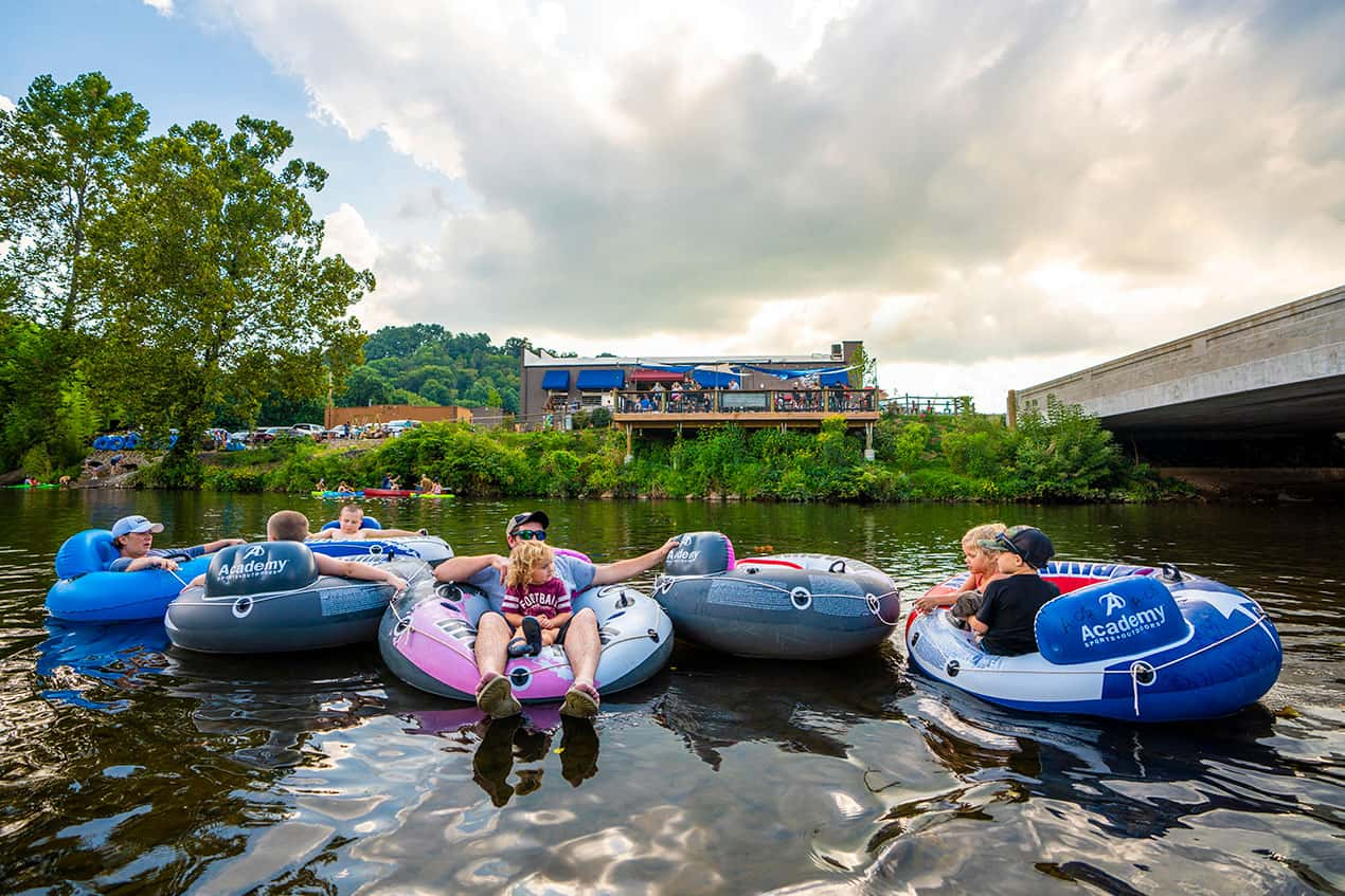 tubing on the pigeon river