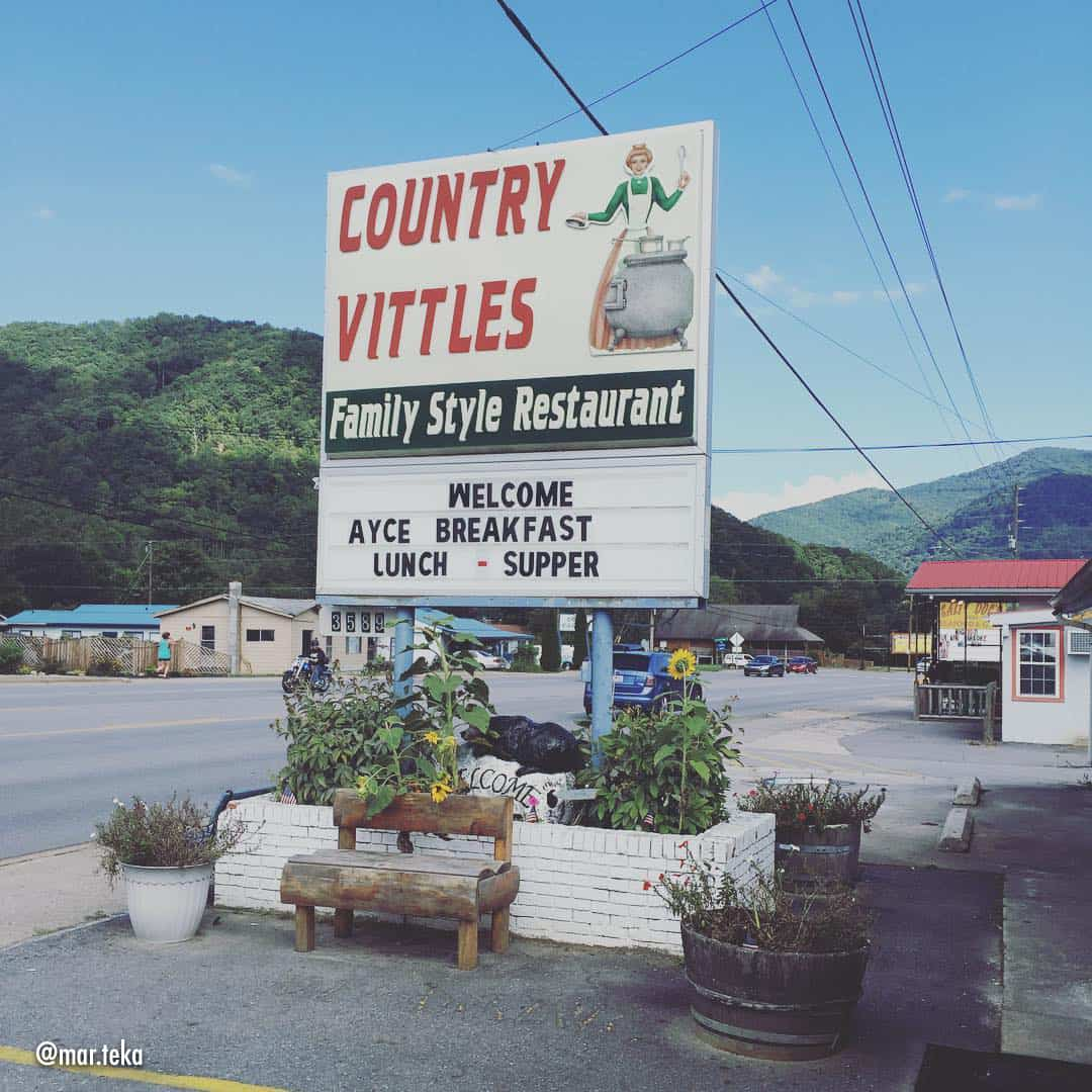 Country Vittles restaurant in Maggie Valley, NC.