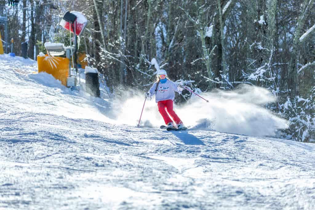 Skiier at Cataloochee Ski Area