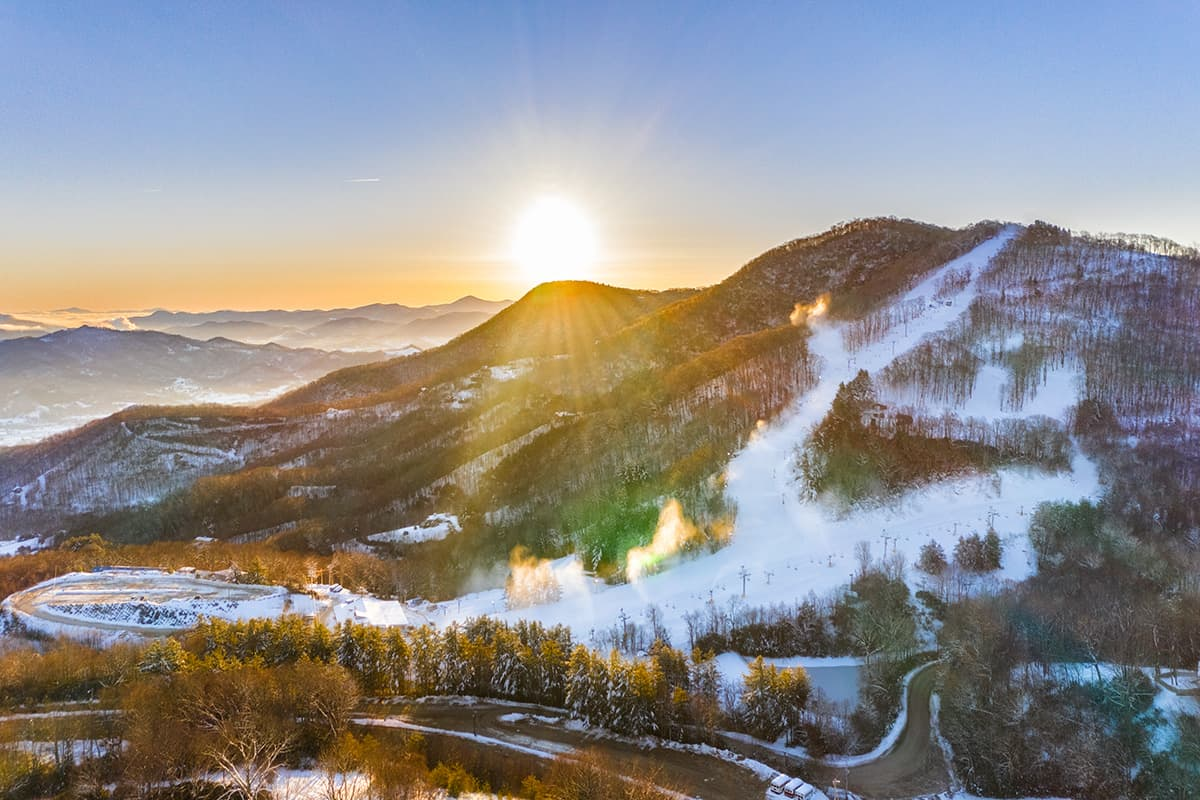 Sunrise over Cataloochee Ski Area