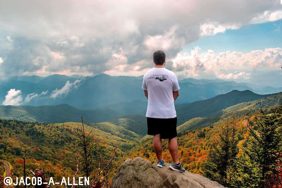 Man standing on mountains